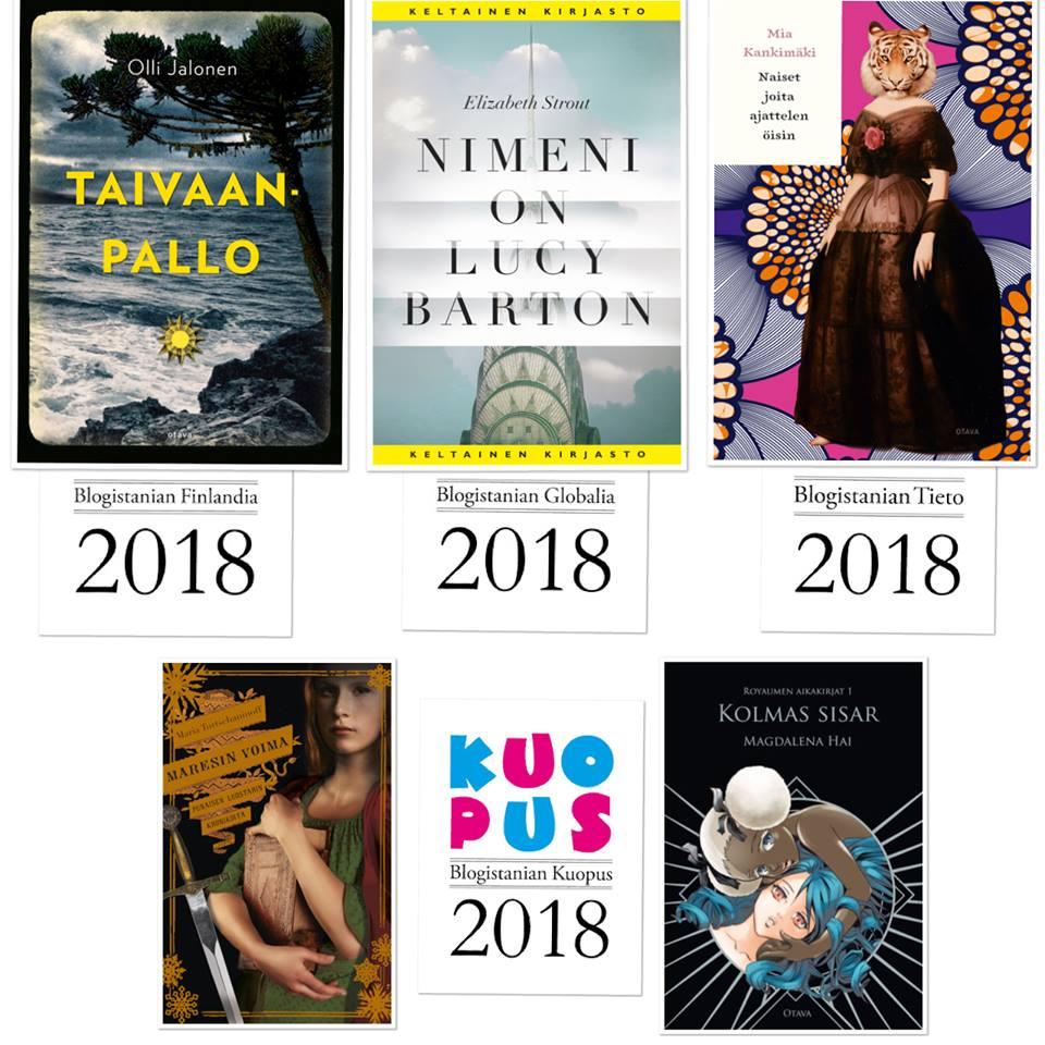 Vuoden 2018 parhaatkirjat