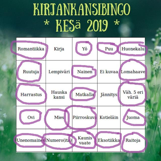 Kirjankansibingo 2019 – rivi4