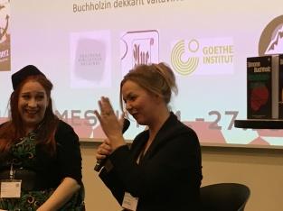 Siri Kolu ja Simone Buchholz
